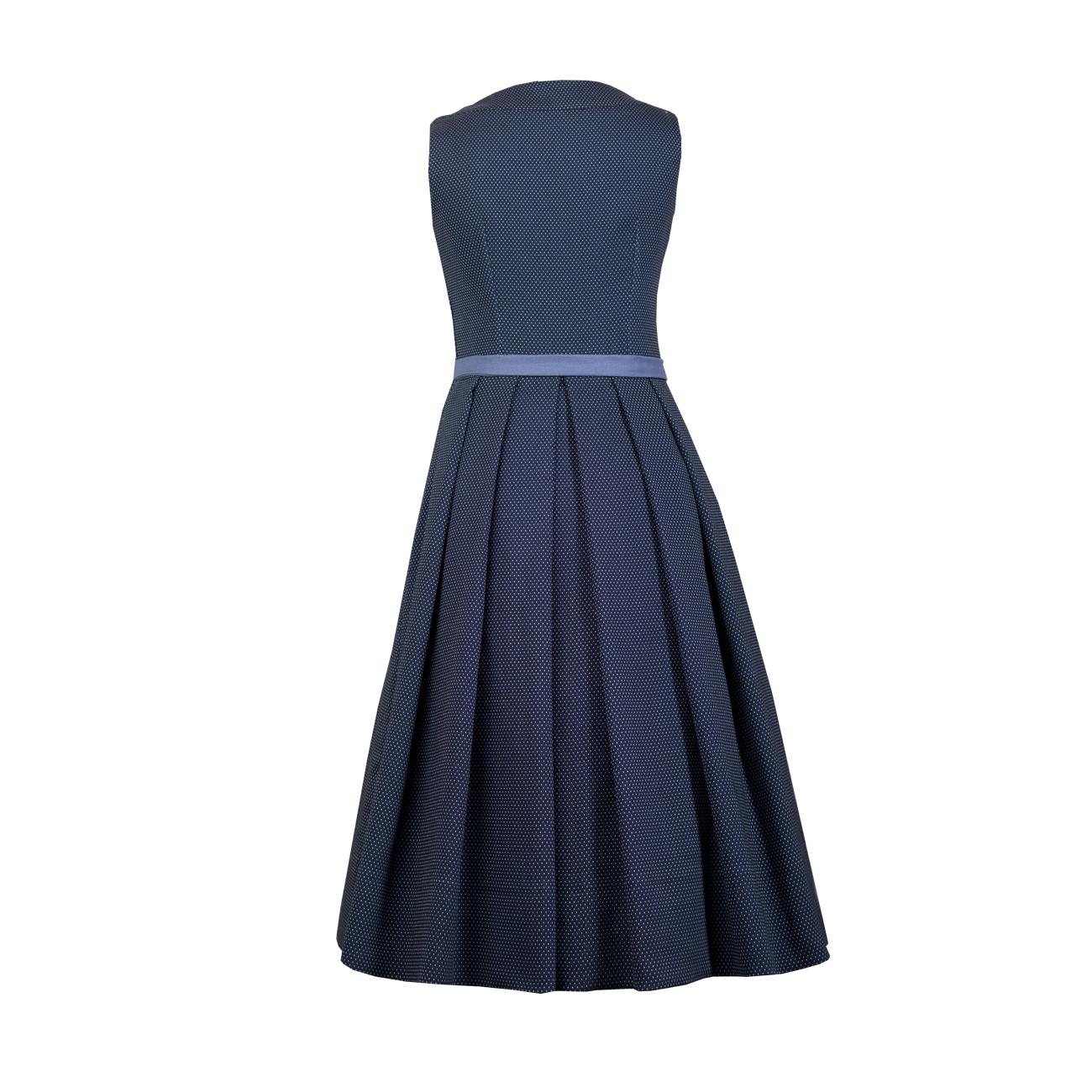 kleid charlotte (dunkelblau-getupft)